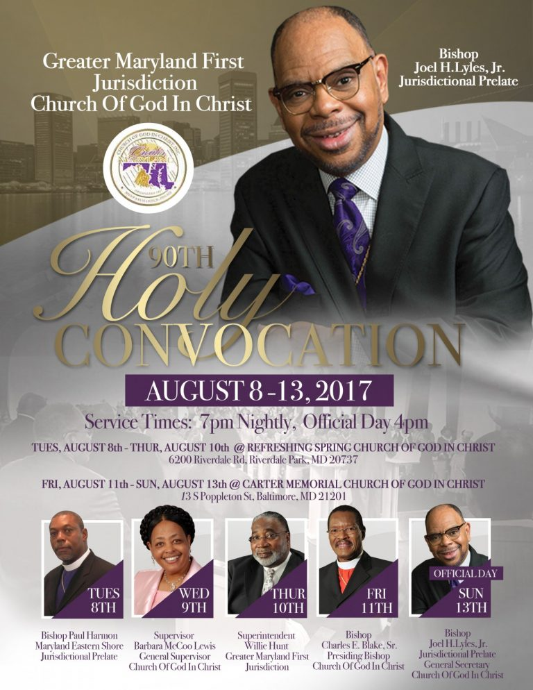 Greater Maryland First 90th Holy Convocation – New Community Church