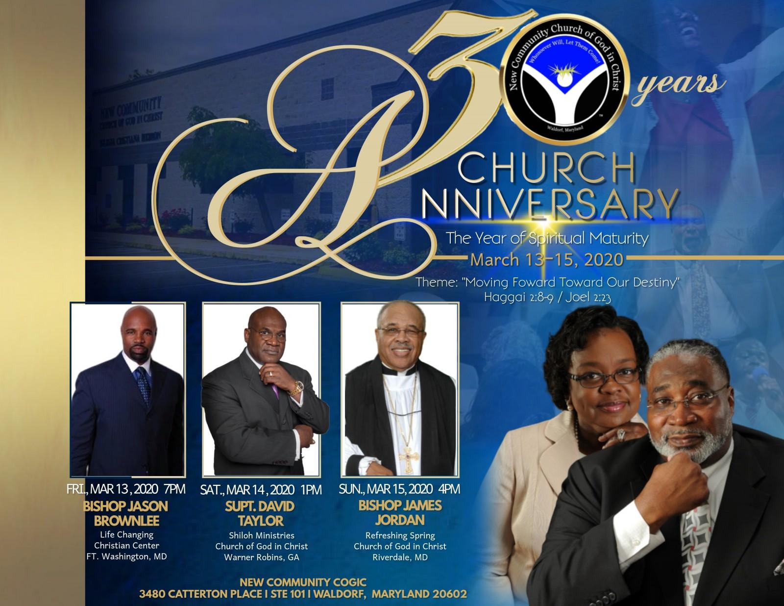 30th Church Anniverary