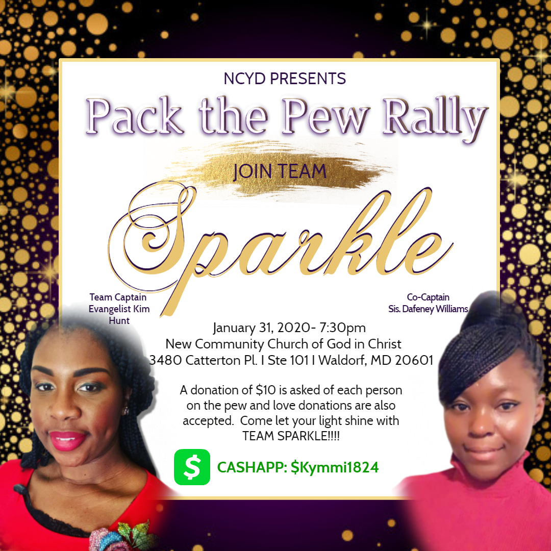 Team Sparkle Pack the Pew - Made with PosterMyWall