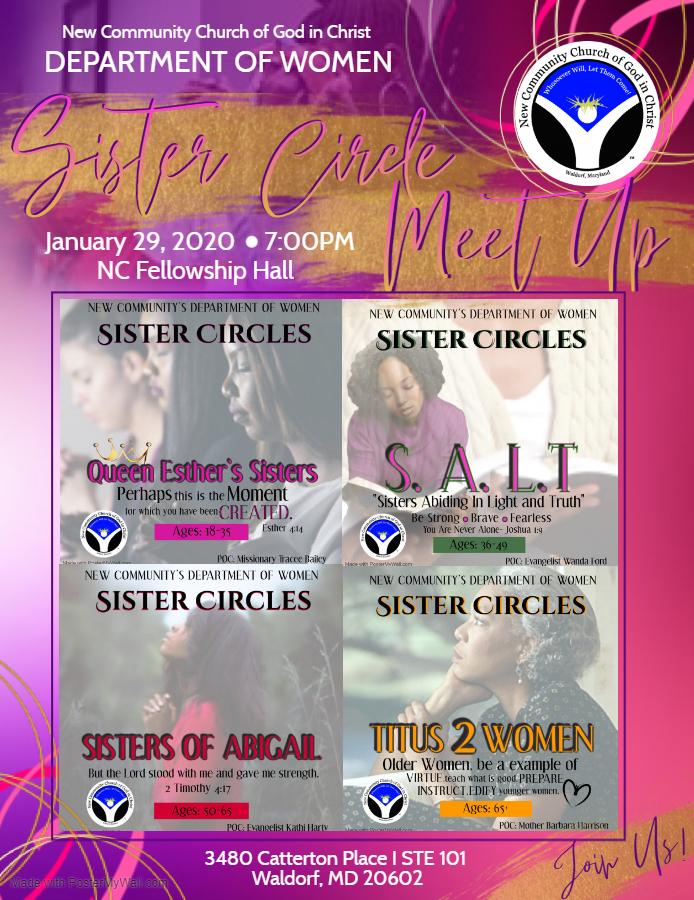 sister Circle Meet Up - Made with PosterMyWall
